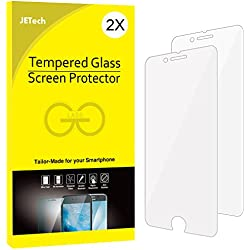 JETech 2-Pack iPhone 8 7 Screen Protector Tempered Glass Film for Apple 4.7-Inch iPhone 8, iPhone 7