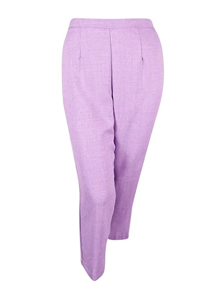 54fd6a4678f12 Image Unavailable. Image not available for. Color  Alfred Dunner Plus Size  Pants 24 Pull On Straight Leg Lavender Purple