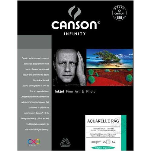 Canson Infinity Aquarelle Rag Paper (240 gsm, 13 x 19'', 25 Sheets) by Canson