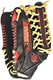 Louisville Slugger Omaha S5 Outfielder's Glove, Right, Black/Scarlet, 12.75''