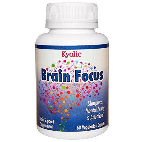 Wakunaga - Kyolic, Brain Focus, 60 Veggie Caplets - (Veggie Caplets)