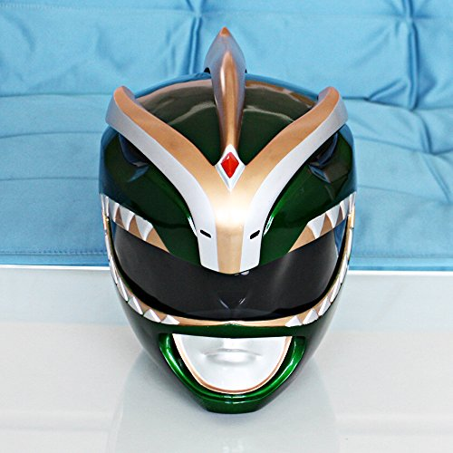 1:1 Halloween Costume Mighty Morphin Power Ranger Helmet Mask Green PR16 (Power Rangers Helmet)