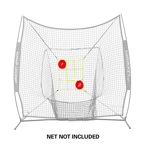 Rukket Baseball/Softball Adjustable Pitching Target | Practice Throwing (Adjustable Strike Zone Target + Bullseyes) Frame and Net Sold Separately.