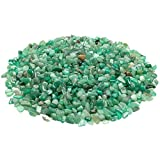 iSTONE Jewelry Grade A+ Natural Green Jade Aventurine Gemstone Tumbled Chips Stone Crushed Crystal Quartz Pieces Irregular Shaped Stones 1 pound(about 460 gram) Size 0.25~0.35''