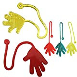 Abetteric Sticky Hands for Kids Birthday Party Favor Sets,Random Color,12-Pack