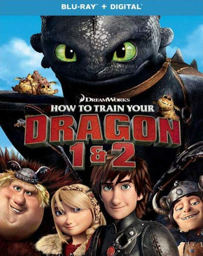 Blu-ray : How To Train Your Dragon 1 And 2 (2 Pack, Digital Copy, With Movie Cash)