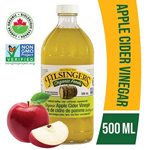 Raw Apple Cider Vinegar with Mother, Natural Detox & Weight Loss, 16 oz (2 Bottles) (Apple Cider Vinegar And Lemon Juice Detox Drink)