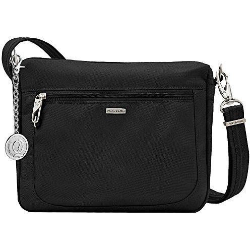 Keychain E Black Crossbody Small Anti with w theft Classic 43115 Charm Metal Bag Travelon wFqAxX47w