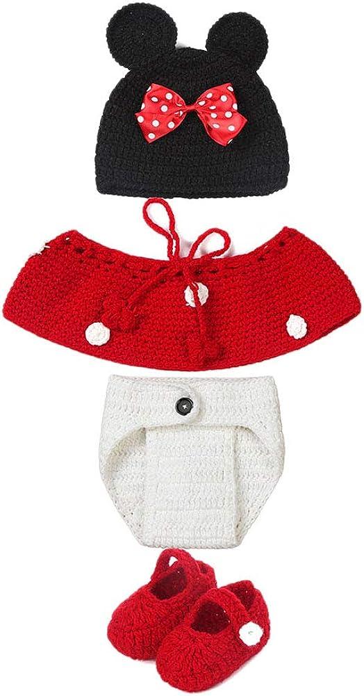 Lavorato all/'Uncinetto PengGengA Costume per Neonato Accessorio per Servizio Fotografico Unisex per Ragazzo E Ragazza