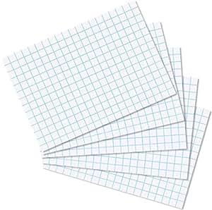 Herlitz - Lote de cartulinas cuadriculadas (1000 unidades, DIN A8), color blanco