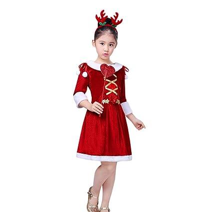 NEARTIME Girls Dress Christmas New Lovely Santa Clause Cute Kids Children  Costume Cosplay Dress for Baby - Amazon.com: NEARTIME Girls Dress Christmas New Lovely Santa Clause