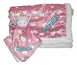 Plush Custom Embroidery Name Baby Blanket