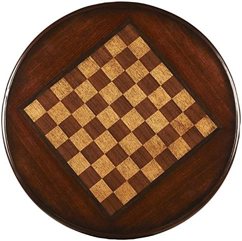 Beaumont Lane Round Game Table in Dark Brown