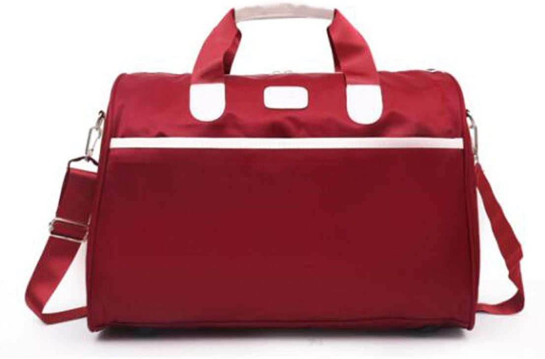 Purple Size: 411930 Mens Sports Bag New Short-Distance Bag Kaiyitong Fitness Bag Color : Red