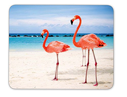 Flamingos Walking on The Beach Mouse pad-Non-Slip Rubber Mousepad-Applies to Games,Home, School,Office Mouse pad
