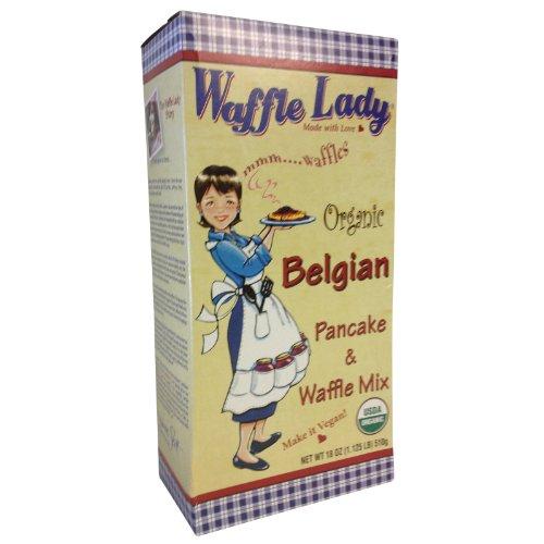 (WAFFLE LADY Organic Belgian Pancake And Waffle Mix, 18 OZ)