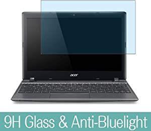 """Synvy Anti Blue Light Tempered Glass Screen Protector for Acer Chromebook C710 11.6"""" Visible Area 9H Protective Screen Film Protectors (Not Full Coverage)"""