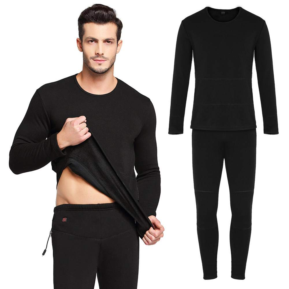 16#M-Top /& Long Johns Unisex Size Intelligent Heating Underwear Set Top /& Long Johns USB Rechargeable Heated Clothes Soft and Warm Inner Velvet Layer Outdoor Cold Protection Heated Clothes