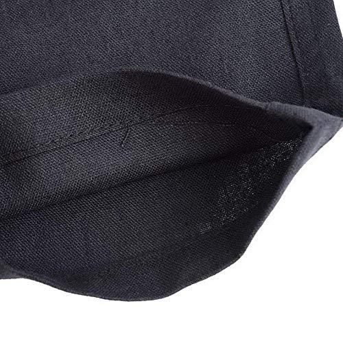 Deportivos Hombre Cordón Cómodo Con Casuales Grau Lona De Holgado Casual Ajuste Para Dunkel Tela Chinos Battercake Pantalones qngEtx1xA
