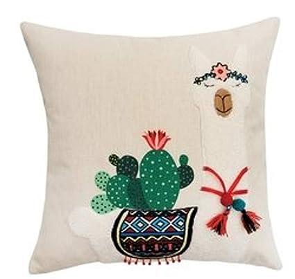 Amazon.com: C&F 46006078 - Cojín para decorar cactus y lama ...