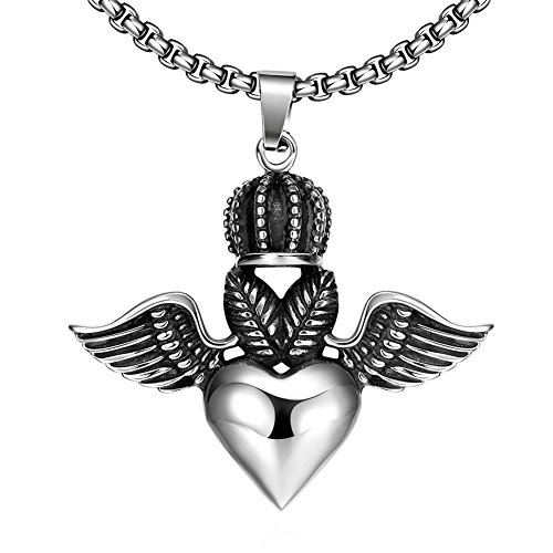 stainless steel angel pendent - 8