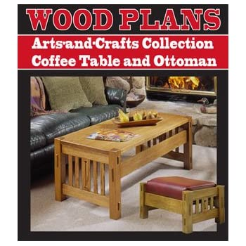 Coffee Table And Ottoman Woodworking Paper Plan Pw10032