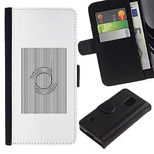 LASTONE PHONE CASE / Lujo Billetera de Cuero Caso del tirón Titular de la tarjeta Flip Carcasa Funda para Samsung Galaxy S5 V SM-G900 / Viking Pattern Nordic Black White