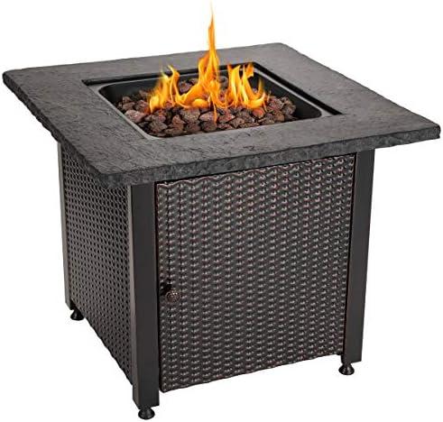 Amazon Com Endless Summer 30 Outdoor Propane Gas Rock Top Fire Pit Lava Rocks Garden Outdoor