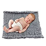 "Play Tailor Chunky Knitted Blanket Newborn Baby Photo Props Wrap--Baby Photography Props 19.6""x19.6"""