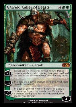 Magic: the Gathering - Garruk, Caller of Beasts (172/249) - Magic 2014 - Foil (Magic The Gathering Garruk Caller Of Beasts)