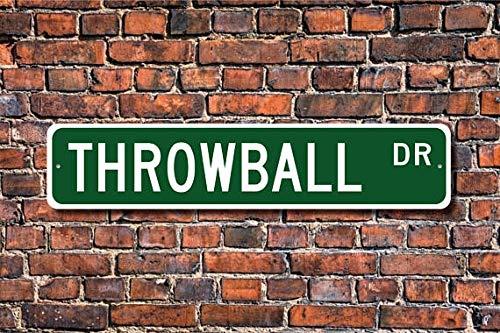 Throwball Player - Fhdang Decor Throwball, Throwball Sign, Throwball Fan, Throwball Player, Throwball Gift, Non-Contact Ball Sport, Custom Street Sign,Metal Sign, 4