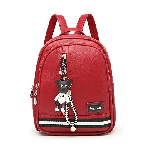 Aoligei Double sac à bandoulière fashion bouche multi-bag sac à dos loisirs étudiant sac des femmes C