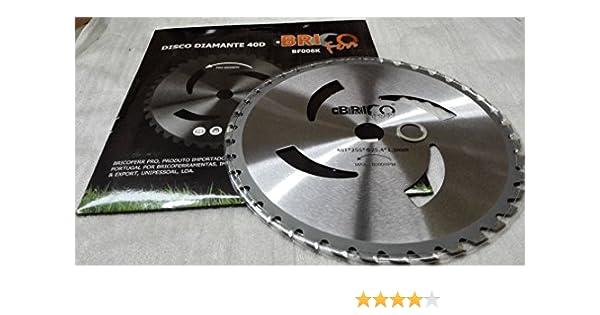 Bricoferr BF006K Disco cuchilla de Widia con 40 puntas semi-profesional para desbrozadora
