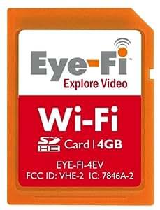 Eye-Fi 4 GB Explore Video SDHC Wireless Flash Memory Card EYE-FI-4EV