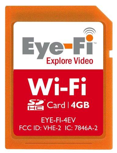 Eye-Fi 4 GB Explore Video SDHC Wireless Flash Memory Card EYE-FI-4EV by Eye-Fi
