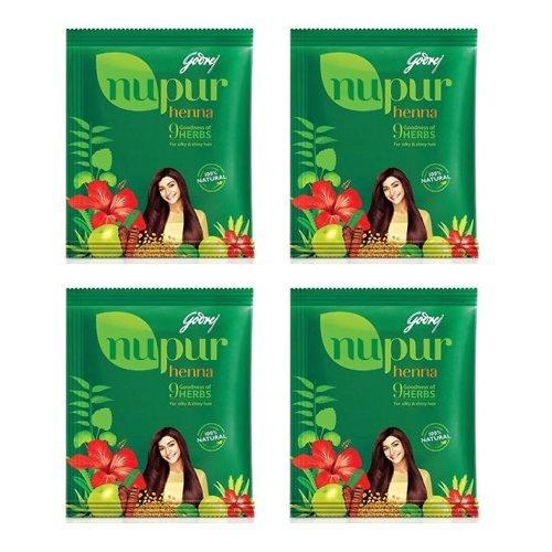 Godrej Nupur Henna Powder 9 Herbs Blend With Free Tresemme Shampoo