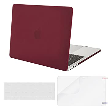 MOSISO Funda Dura Compatible 2019 2018 2017 2016 MacBook Pro 13 USB-C A2159 A1989 A1706 A1708, Carcasa Protector de Plástico & Cubierta de Teclado & ...