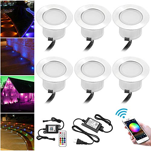 WiFi LED Deck Lights Kit, FVTLED 6pcs Φ1.85