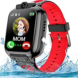 Kids Smartwatch Phone with WiFi/LBS Tracker for Girls Boys with IP67 Waterproof SOS Call Camera Touch Screen Game Alarm…