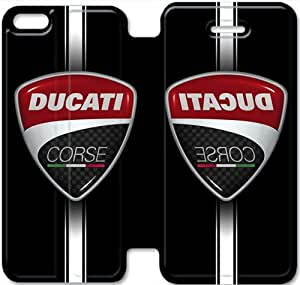 iPhone 5C Cell Phone Case Ducati Corse Logo Colorful Printing Leather Flip Case Cover 3ERT489288