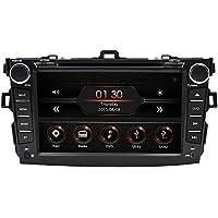 8-Inch Touchscreen Car DVD Player GPS Navigation Stereo for Toyota Corolla 2009 2010 In Dash AV Receiver iPod Music AM FM Radio Steering Wheel Ctrl Bluetooth 1080P