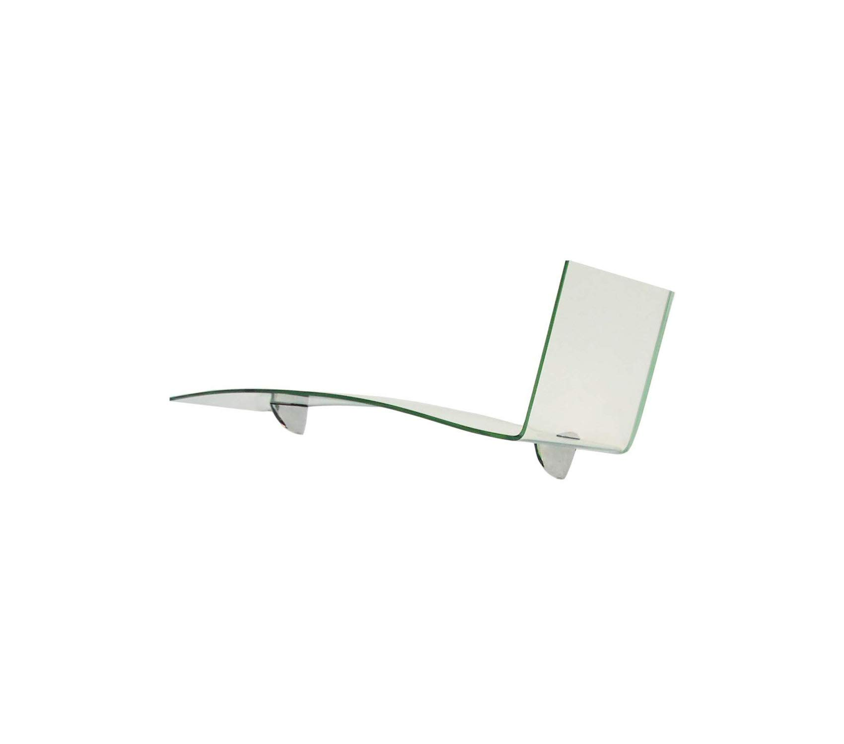 Fаb Glаss Аnd Mirrоr Premium Bent Chase Series 1/4'' Thick with Brackets Glass Shelf 31'' 1/2 Clear Storage