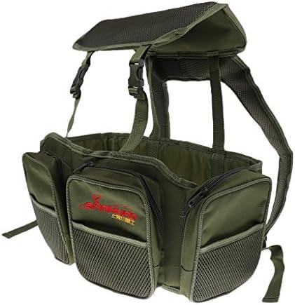 タックルバッグ シートボックス リュックサック 大容量 調節可能 アーミーグリーン
