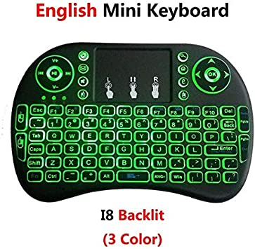 Color: Russian Version Calvas Russian Version Backlit 2.4GHz Wireless Keyboard Touchpad Mouse Handheld Remote Control Backlight for Android TV BOX