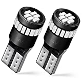 AUXITO Brilliant Red LED Bulbs 168 175 194 2825 W5W T10 921 912 24-SMD 3014 Chipsets for Car Dome Map Door Courtesy License Plate Lights (Pack of 2)