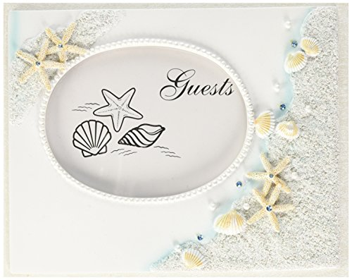 (Fashioncraft 2418 Finishing Touches Collection Beach Themed Wedding Guest Book, 9.5