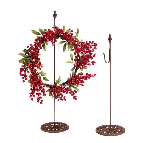 Bulk Buy: Darice DIY Crafts Standing Metal Wreath Hanger Rusted -24 inches (6-Pack) 6556-78 by Darice