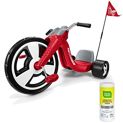 [Radio Flyer Big Wheel Kids Pedal Ride On Tricycle for Boys, Red with Disinfectant Wipes] (Bull Rider Costume Toddler)