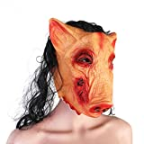 Tinksky Creepy Animal Prop Party Unisex Scary Pig Head Mask - Halloween Costumes