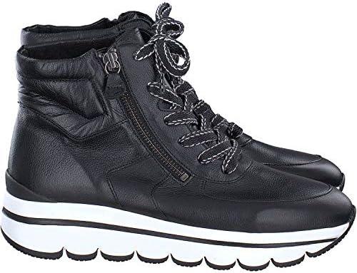 Gabor Jollys 33.700-27 Chaussures de sport pour femme en cuir lisse Noir